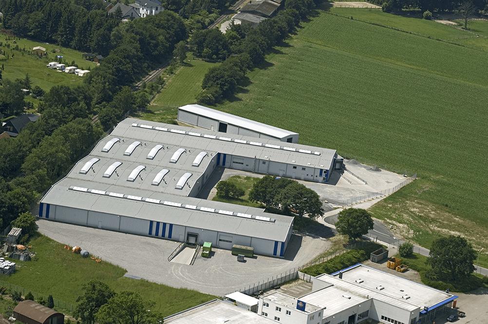 Luftaufnahme Gebäude PIT-Chemie
